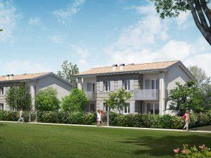 nuove case con giardino a Carpi